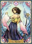 The High Priestess (Rising Breeze Tarots Project)