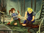 FFVII Moments: Cloud helps Jessie escape