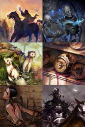 Card illustrations by dmsdud