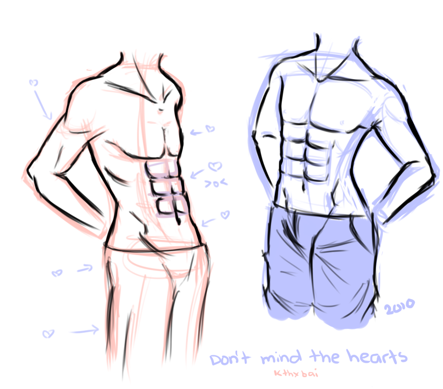 anime male anatomy - 900×791