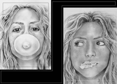 Shakira and Bubble Gum