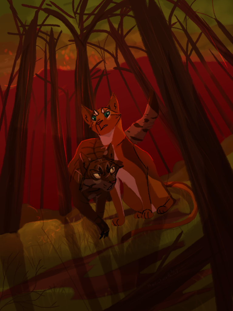 WCA--Tigerclaw and Fireheart by Marietsloth