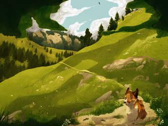Mountain Hike by Marietsloth