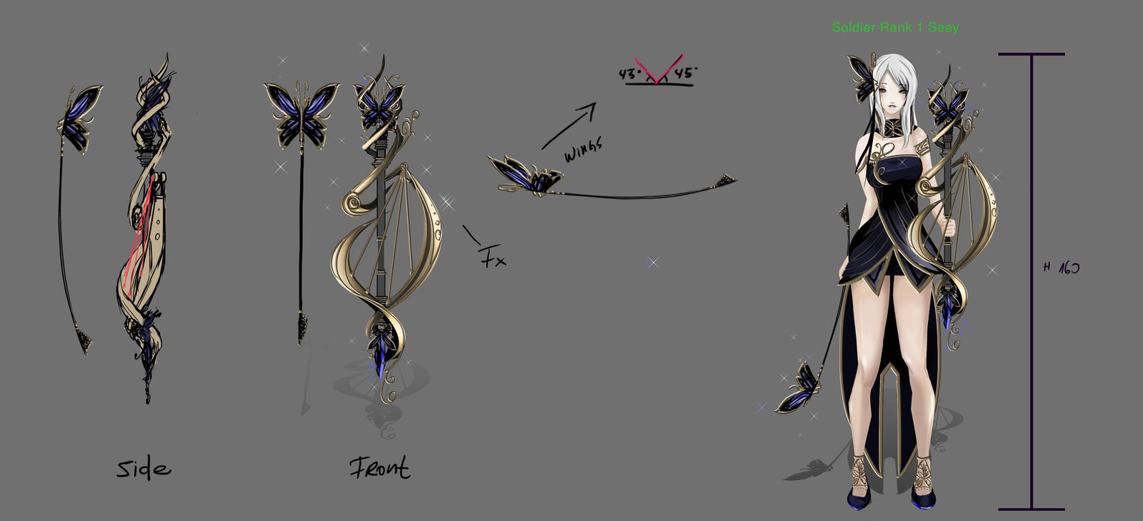 Weapon concept - Bard- Aion 4.0 by hannsamu