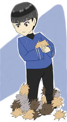 Chibi Tribble - Spock by Haycle
