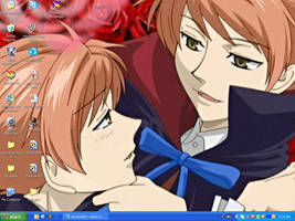 Ouran Twins Desktop by alisterbabeh2006