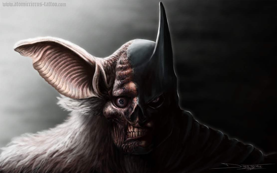the real face of batman by dinotomic on deviantart