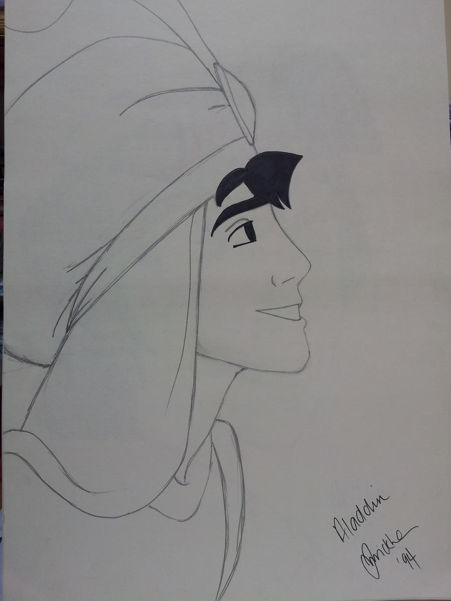 Old Sketches - Prince Aladdin by jakitty69 on DeviantArt