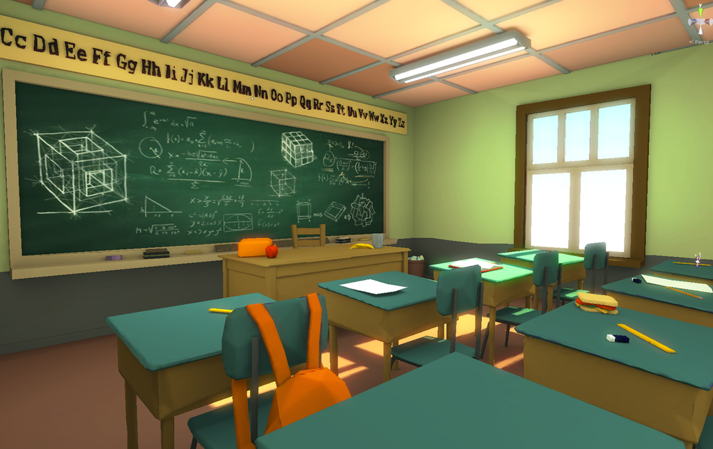 Low Poly Classroom By Akasha1x