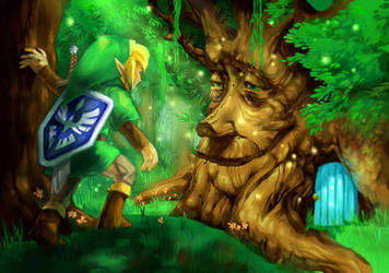 Oracle of Seasons, the Maku Tree by Ryuupix