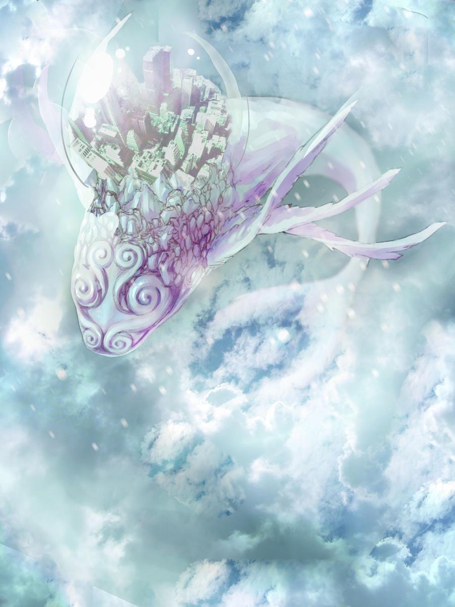 Sky Whale City by Ryuupix