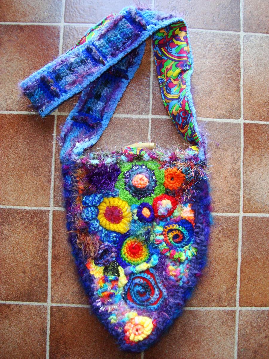 Crochet Rainbow Bag : Rainbow Crochet Bag by Faeriegem on DeviantArt