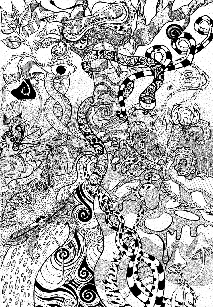 Image Result For Psychedelic Coloring Page