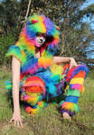 Rainbow Furry Cat Outfit 1
