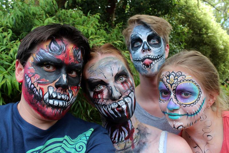 Demons and Skulls Face Paint by Faeriegem