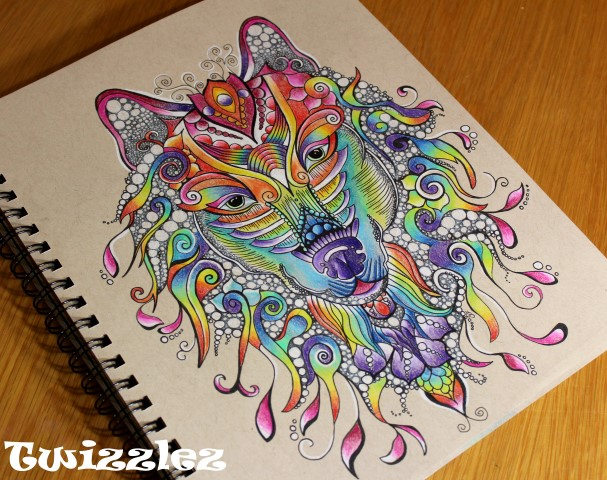 Rainbow Wolf by Faeriegem