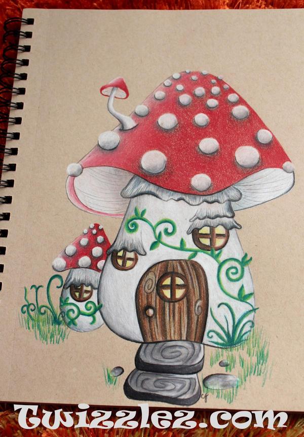 Mushroom Farie House by Faeriegem