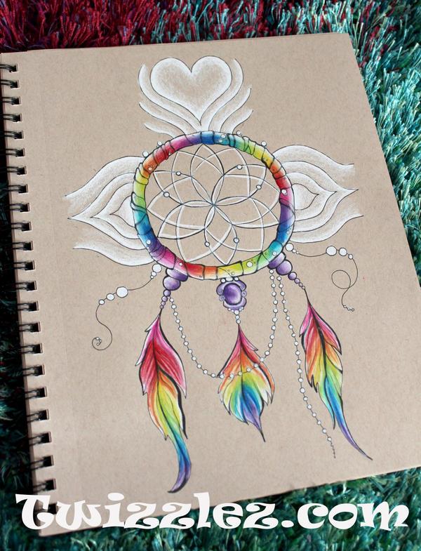 Rainbow Dreamcatcher by Faeriegem