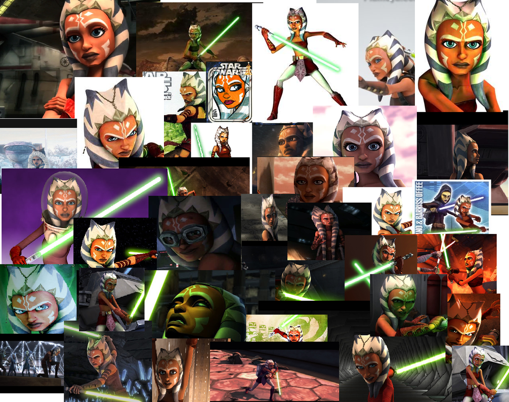 Ahsoka Tano Collage by Clonetroopsrule344