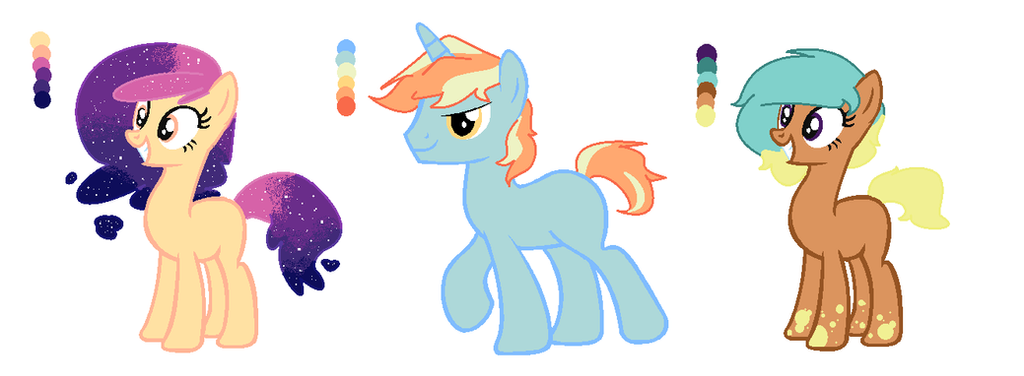 :OPEN: Palette Challenge Adoptables 1-3 by PennyDropShop