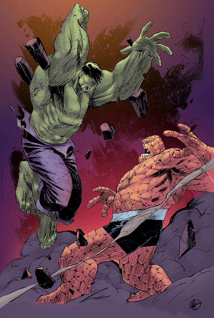 Matteo Scalera Hulk Thing by alphatrope