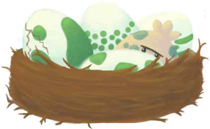 Pokemon-egg nest by Sma-chan