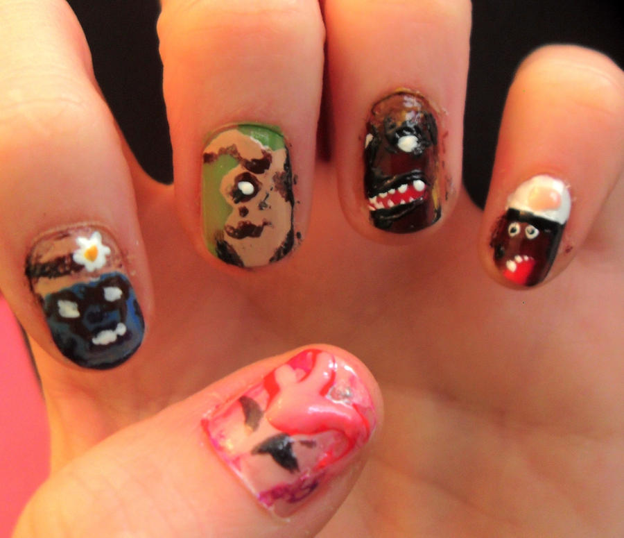 Fallout nails by PirateStar on DeviantArt
