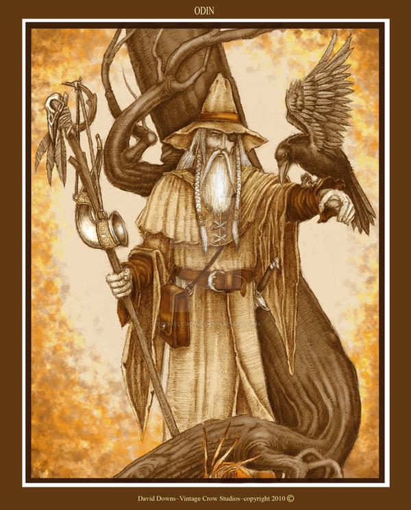 Odin_Sepia by EzekielCrowe