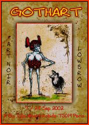 Gothart Art Show poster in Paris by gothart-saturnin