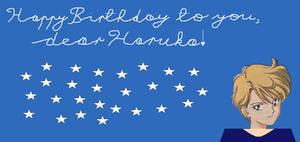 Happy Birthday, dear Haruka!