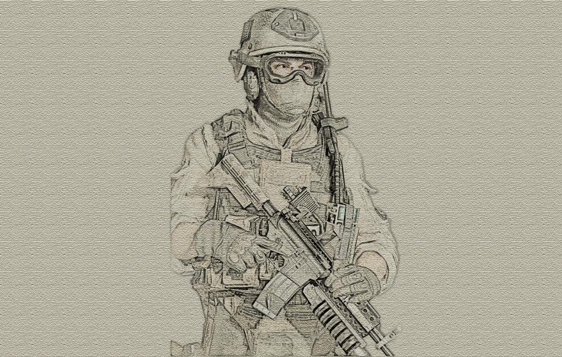 Modern Warfare 2 Soldier Canvas Sketch By Zapdosify On
