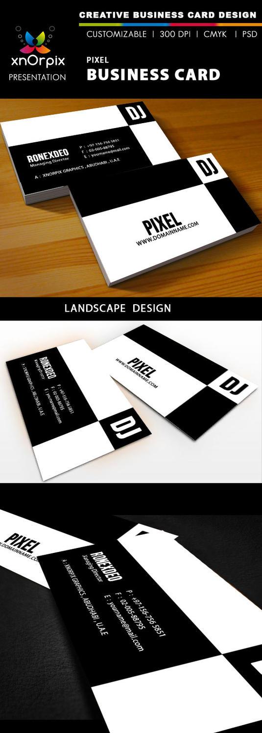DJ Business Card by xnOrpix