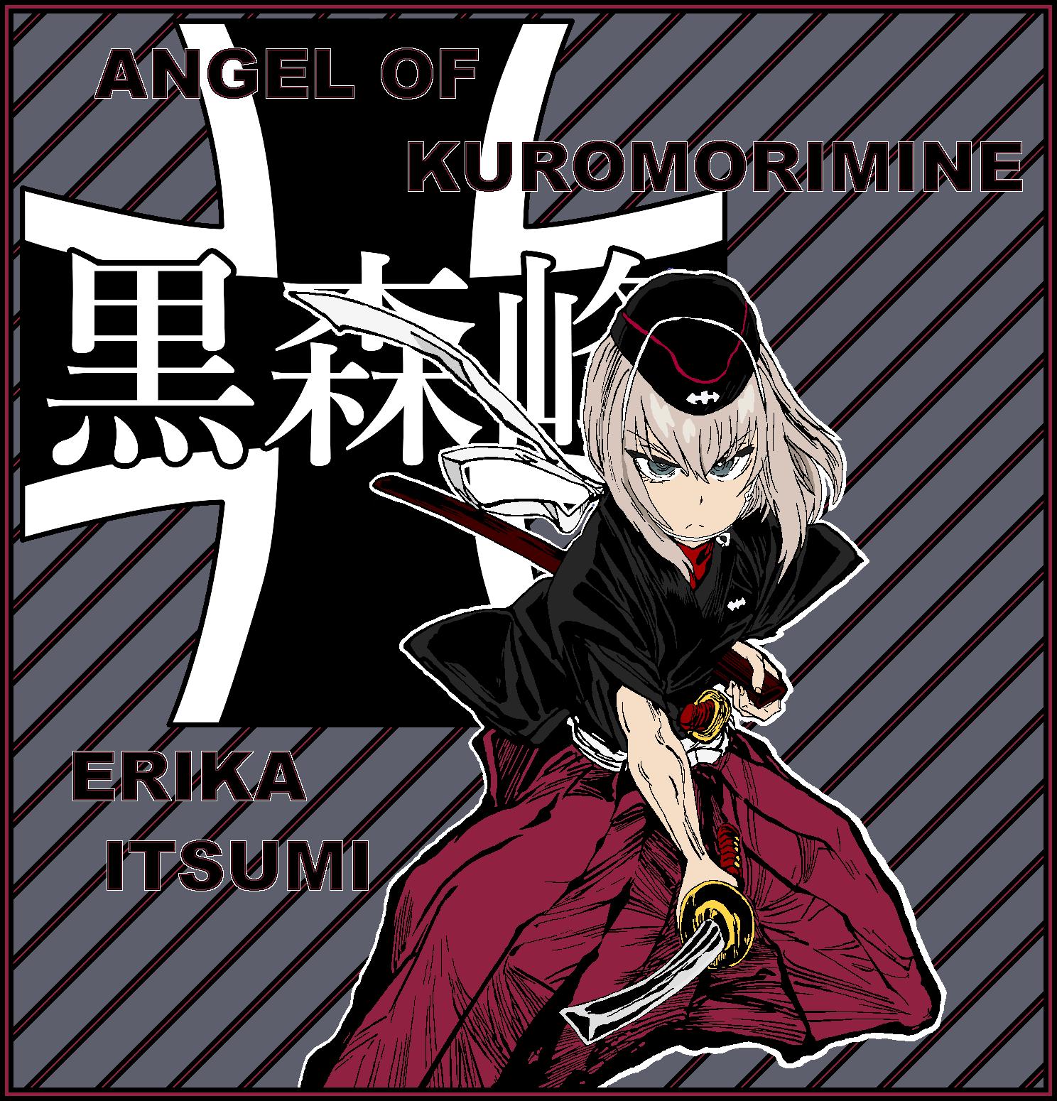 Erika Itsumi Angel Kuromorimine 2 by mirage2000