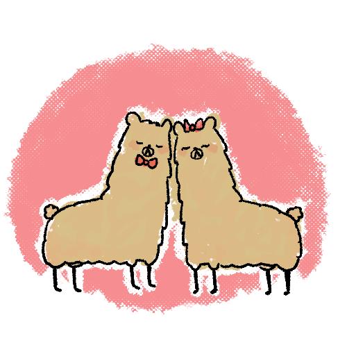 Llama Love by Tinystrawberri