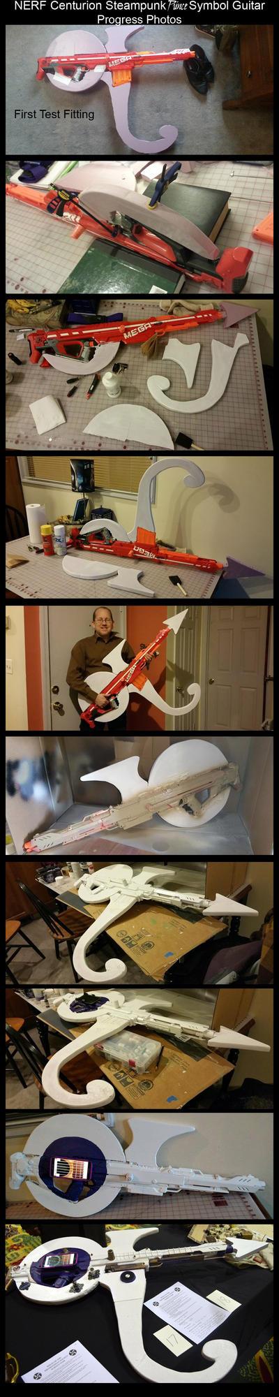 NERF Centurion Prince Guitar WIP by CaelynTek