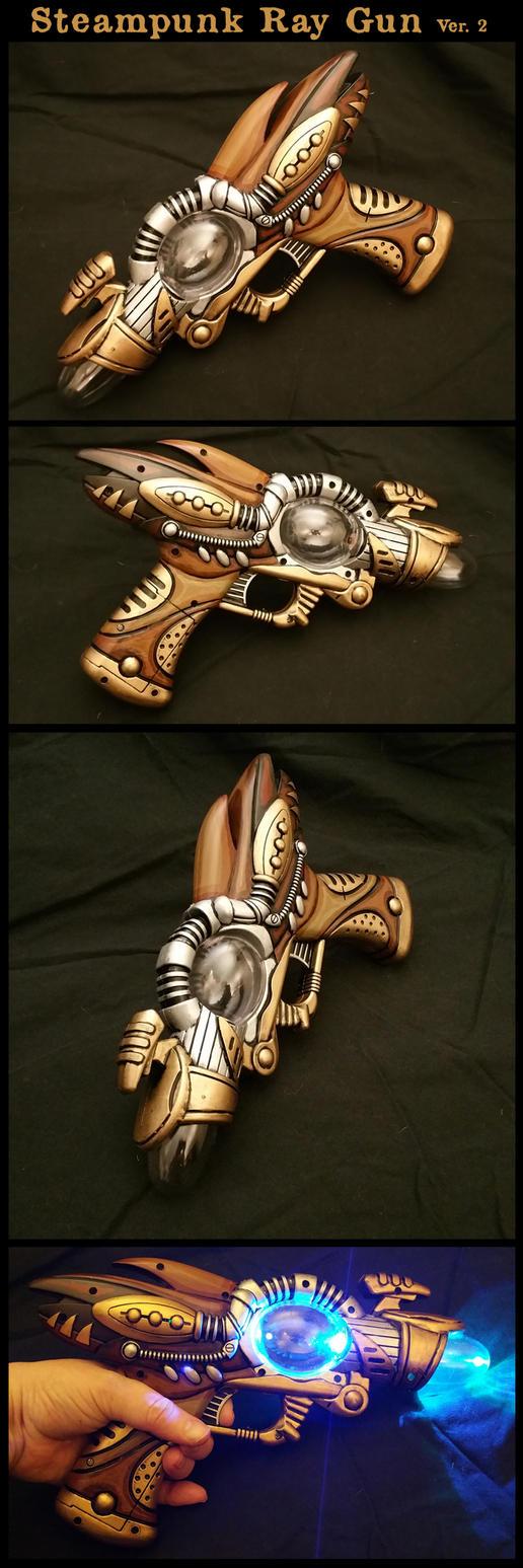 Steampunk Ray Gun Version 2 by CaelynTek