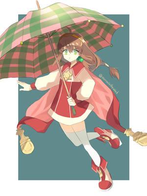 Little Sorceress with an Umbrella by ZakkVanBurace