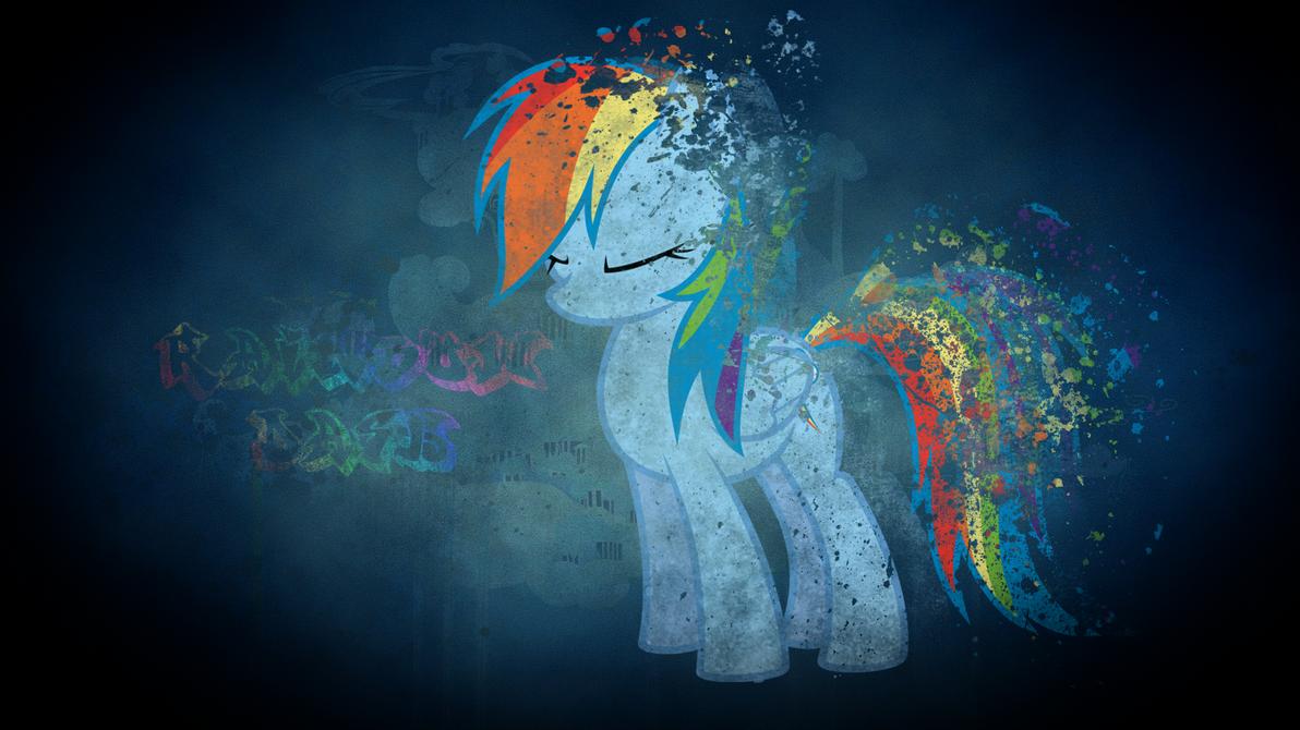 Rainbow Dash wallpaper (I tried. . .xc) by MLP-Mayhem