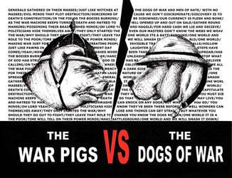 Dogs Of War vs War Pigs by elmothealien