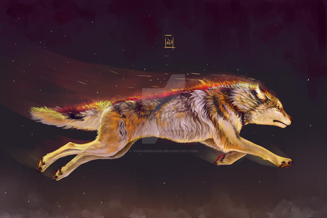 wolf by VigourDragon