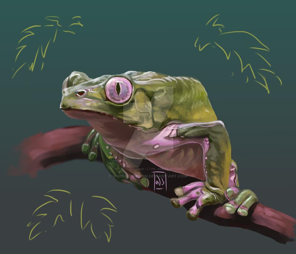 Monkey Frog by VigourDragon