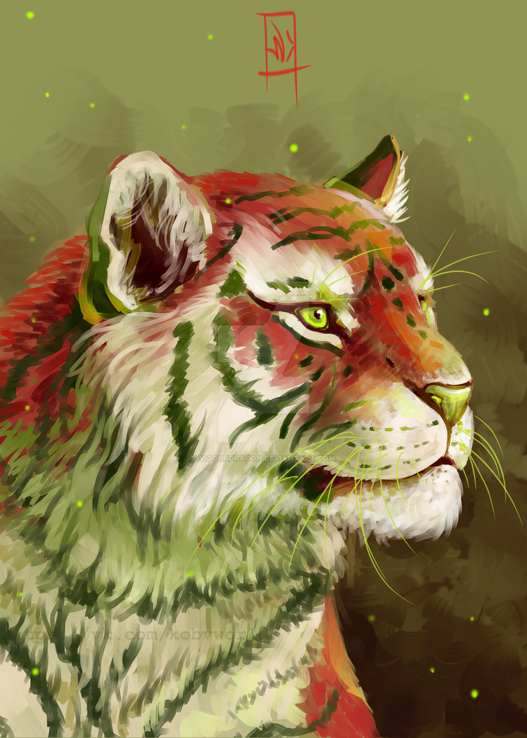 Apple tiger by VigourDragon