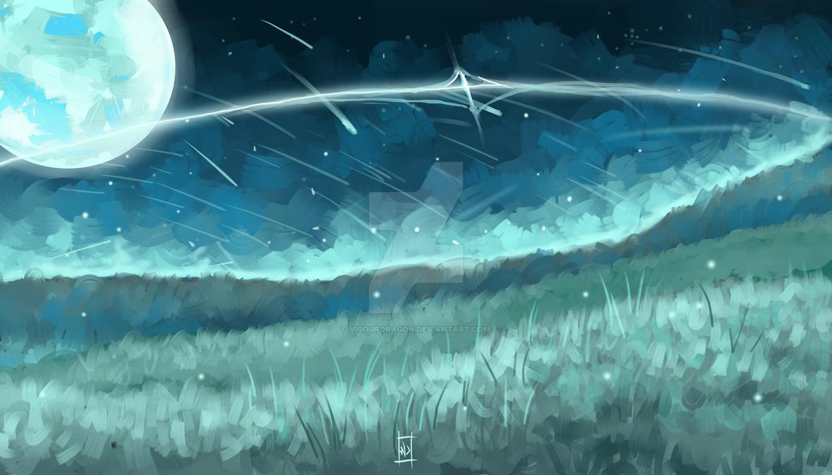 White Night (Mint field) by VigourDragon