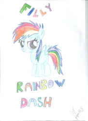 Filly Rainbow Dash
