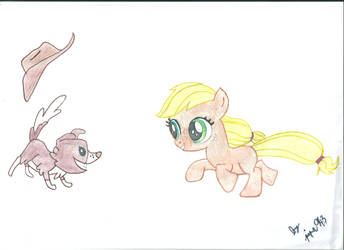 Filly AppleJack with Winona