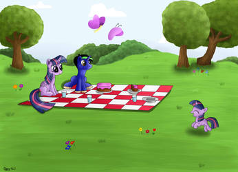 Twilight and pipa picnic by pipa9943