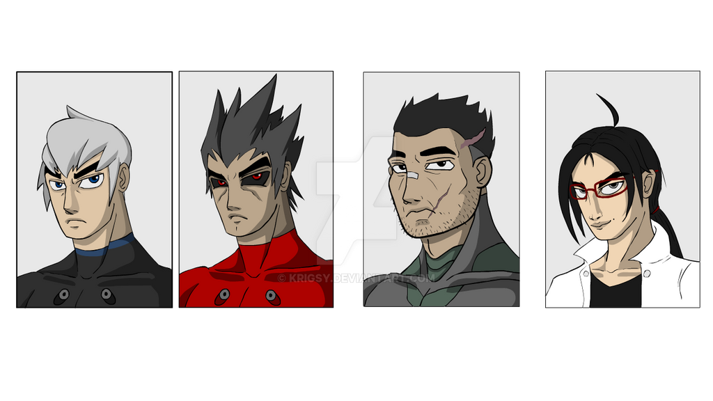 BlackCell Main cast (WIP) by Krigsy