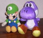 Luigi and Purpley Plushies