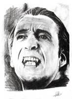 Christopher Lee as Dracula by NicoleSt