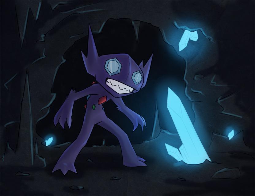 Sableye - Ghost in the Dark by silversword